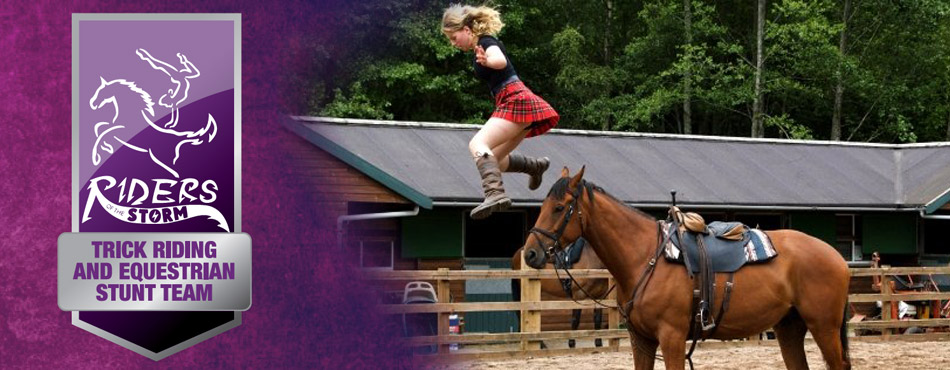 Trick riding and equestrian stunt team